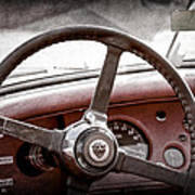 1954 Jaguar Xk120 Roadster Steering Wheel Emblem Art Print