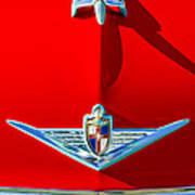 1954 Lincoln Capri Hood Ornament Art Print