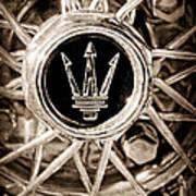 1954 Maserati A6 Gcs Wheel Rim Emblem Art Print
