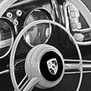 1954 Porsche 356 Bent-window Coupe Steering Wheel Emblem Art Print
