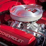 1955 Chevrolet 210 Engine Art Print