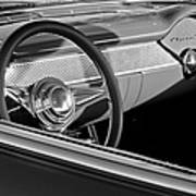1955 Chevrolet 210 Steering Wheel Art Print