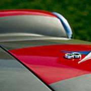 1955 Fiat 8v Zagato Hood Emblem Art Print