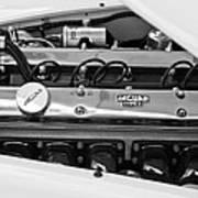 1955 Jaguar Engine Art Print