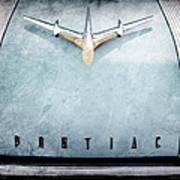 1955 Pontiac Safari Hood Ornament - Emblem Art Print