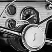 1955 Studebaker President Steering Wheel Emblem Art Print by Jill Reger