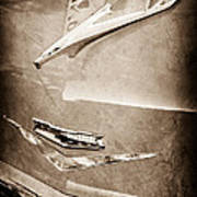 1956 Chevrolet Hood Ornament Art Print