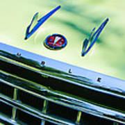 1956 Hudson Rambler Station Wagon Grille Emblem - Hood Ornament Art Print