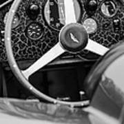 1957 Aston Martin Dbr2 Steering Wheel Art Print