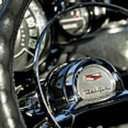1957 Chevrolet Belair Steering Wheel Art Print