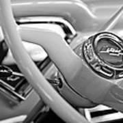 1957 Chevrolet Cameo Pickup Truck Steering Wheel Emblem Art Print