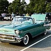 1957 Chevy Bel Air Green Art Print