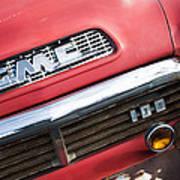 1957 Gmc V8 Pickup Truck Grille Emblem Art Print