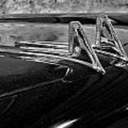 1957 Lincoln Capri Hood Ornament Art Print