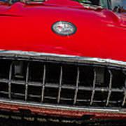 1958 Chevrolet Corvette Grille Art Print