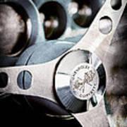 1958 Chevrolet Corvette Steering Wheel Emblem Art Print