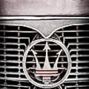 1958 Maserati Hood - Grille Emblem Art Print