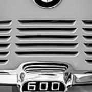 1959 Bmw 600 Isetta Emblem Art Print