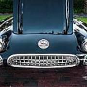 1959 Chevy Corvette Convertible Painted  Art Print