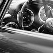1960 Aston Martin Db4 Series II Steering Wheel Art Print