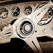 1960 Maserati Steering Wheel Emblem Art Print