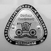 1960 Porsche 356 B 1600 Super Roadster Emblem Art Print