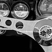 1962 Chevrolet Corvette Convertible Steering Wheel Art Print