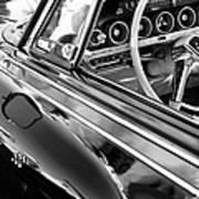 1962 Dodge Polara 500 Side Emblem - Steering Wheel Art Print
