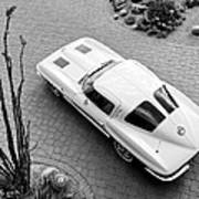 1963 Chevrolet Corvette Split Window -440bw Art Print