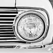 1963 Ford Falcon Futura Convertible Headlight - Hood Ornament Print by Jill Reger