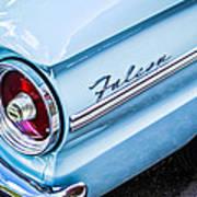 1963 Ford Falcon Futura Convertible Taillight Emblem Art Print by Jill Reger