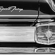 1963 Plymouth Sport Fury Taillight Emblem Art Print