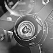 1965 Aston Martin Db5 Coupe Rhd Steering Wheel Art Print