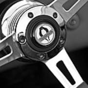 1965 Shelby Cobra 427 Steering Wheel Emblem Art Print