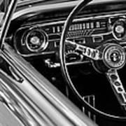 1965 Shelby Prototype Ford Mustang Steering Wheel Art Print