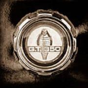 1966 Ford Mustang - Cobra Gt 350 Emblem Art Print