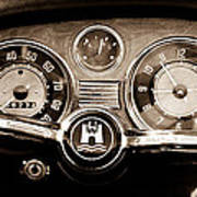 1966 Volkswagen Vw Karmann Ghia Steering Wheel Art Print