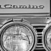 1967 Chevrolet El Camino Pickup Truck Headlight Emblem Art Print