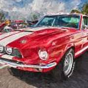 1967 Ford Shelby Mustang Gt500 Painted  Art Print