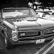1967 Pontiac Gto Bw Art Print