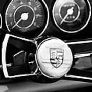 1967 Porsche 911 Coupe Steering Wheel Emblem Art Print