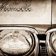 1968 Chevrolet Chevelle Hood Emblem Art Print