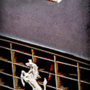 1968 Ferrari 365 Gtc Hood Emblem - Grille Emblem Art Print
