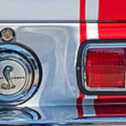 1968 Ford Mustang Fastback 427 Ci - Cobra Emblem Art Print