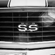 1969 Chevrolet Camaro Rs-ss Indy Pace Car Replica Grille Emblem Art Print