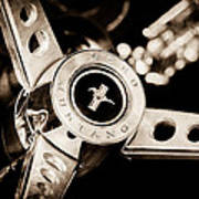 1969 Ford Mustang Mach 1 Steering Wheel Art Print by Jill Reger