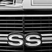 1970 Chevrolet Chevelle Ss 454 Grille Emblem Art Print