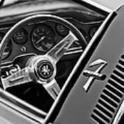 1971 Iso Grifo Can Am Steering Wheel Emblem Art Print