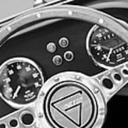 1972 Ginetta Steering Wheel Emblem Art Print