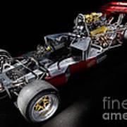 1974 Lola T332  F5000 Race Car V8 5 Litre Chassis Art Print